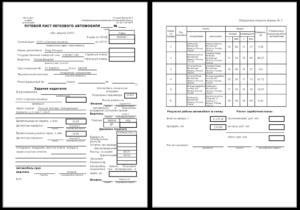 Образец путевого листа личного автомобиля директора 2020