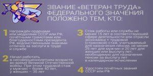 Ветеран трада кемеровской области 2020 год сколько лет стажа нужно женщине для получения звания
