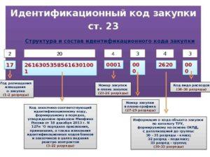 Идентификационный код закупки икз где взять для 307-фз