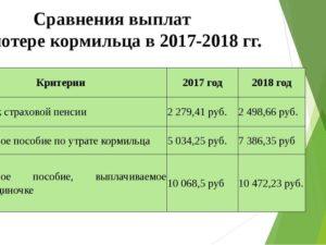 Пенсия по потере кормильца сколько платят