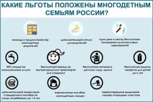 Льготы многодетным семьям в москве 2020