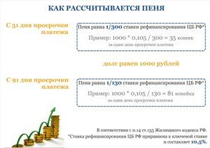 Пени за просрочку платежа за электроэнергию косгу в 2020 году