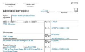 Основание платежа при штрафе за сзв-м