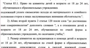 Алименты в беларуси после 18