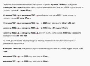 Расчет пенсии по старости для мужчины 1959 года рождения