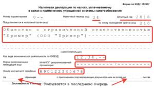 Образец налоговой декларации за 2020 для ип при закрытии