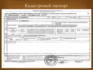 Кадастровый паспорт на участок в 2020 году нужен ли он
