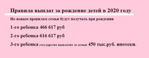 Единовременная компенсация при рождении ребенка в 2020 году в москве