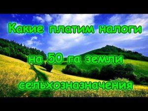 Налог за гектар земли сельхозназначения