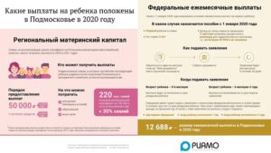 Пособие по рождению ребенка в 2020 в московской области