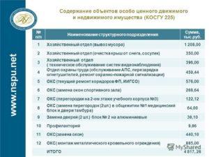 Косгу за охрану объекта в 2020 году для бюджетных учреждений
