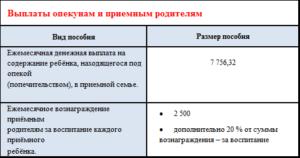 Размер опекунских пособий в 2020 году в московской области