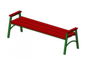 Амортизационная группа скамейка уличная