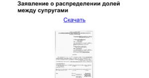 Заявление на распределение имущественного вычета между супругами бланк новочебоксарск