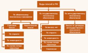 Виды пенсий в рф 2020 схема