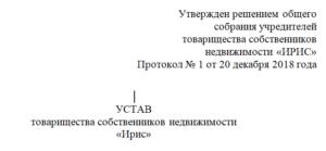Образец устава тсн для садоводов в редакции 2020 года согласно нового закона № 217