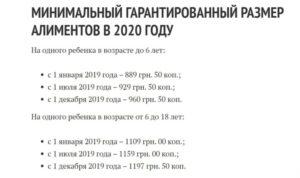 Алименты на ребенка в 2020 в спб для не